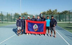 Team Guam during their Davis Cup debut in Oman.