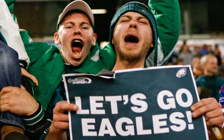 Philadelphia Eagles fans celebrate