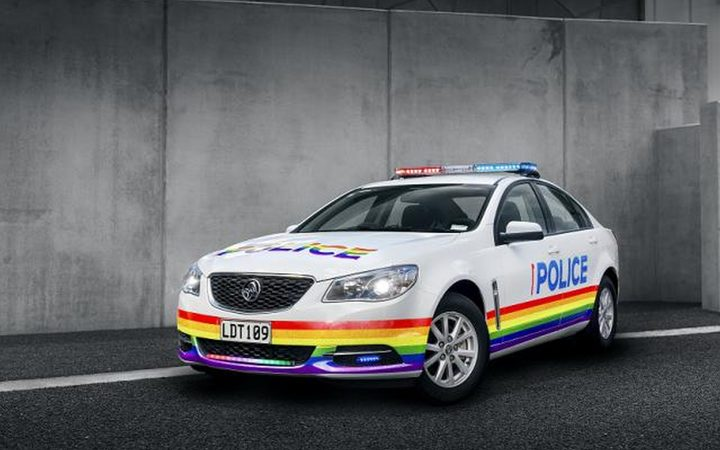 Police are putting rainbow livery on their patrol car in celebration of the pride parades in Auckland and Wellington.
