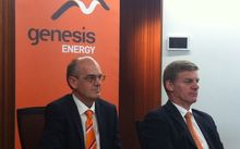 State Owned Enterprises Minister Tony Ryall, left, and Finance Minister Bill English at the announcement.