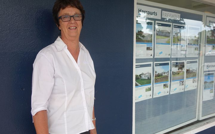 Sheryl Page has managed the Waitara branch of Harcourts since the 1990s.
