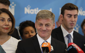 Bill English at his resignation press conference