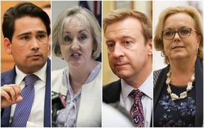 Possible contenders for the leadership team, from left, Simon Bridges, Amy Adams, Jonathan Coleman and Judith Collins.