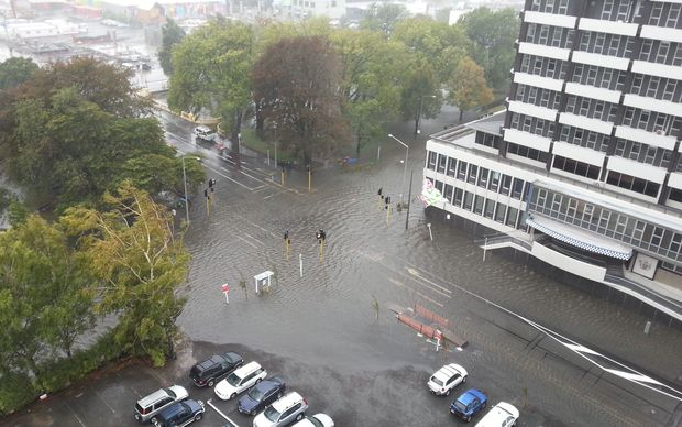 The central city was flooded on 4 March.