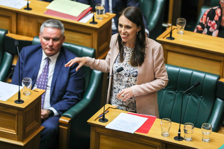 Prime Minister Jacinda Ardern outlines her Child Poverty Reduction Bill to the House.