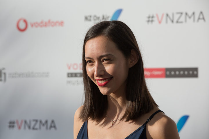 Fazerdaze, aka Amelia Murray, at the 2017 Vodafone New Zealand Music Awards.