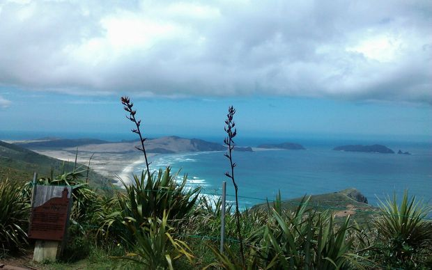 Cape Reinga and Kerikeri received the first of the rain and wind.
