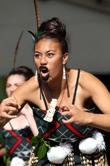 Papakura High School students perform at the festival.
