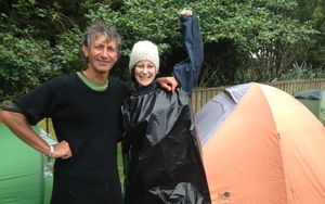 WOMAD fans Grant Williams and daughter Alice were ready for a downpour.