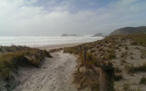 Wild surf at Whangarei Heads on Saturday.