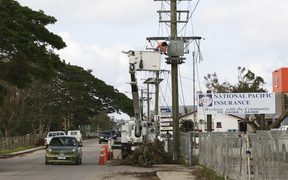 The big challenge is to restore power to Tonga again.