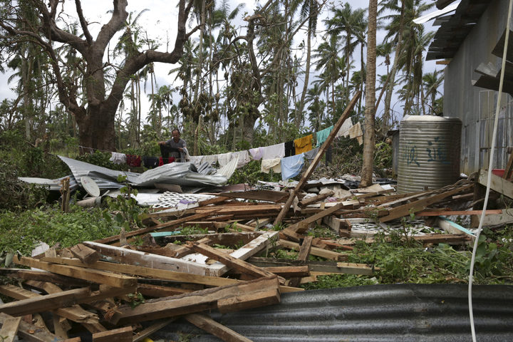 The destruction left in the wake of Tropical Cyclone Gita in Tonga.