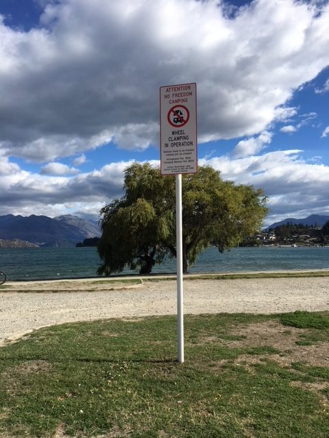 Queenstown Lakes District Council has imposed a ban on freedom campers.