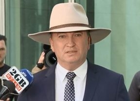 Barnaby Joyce addresses media ahead of his personal leave.