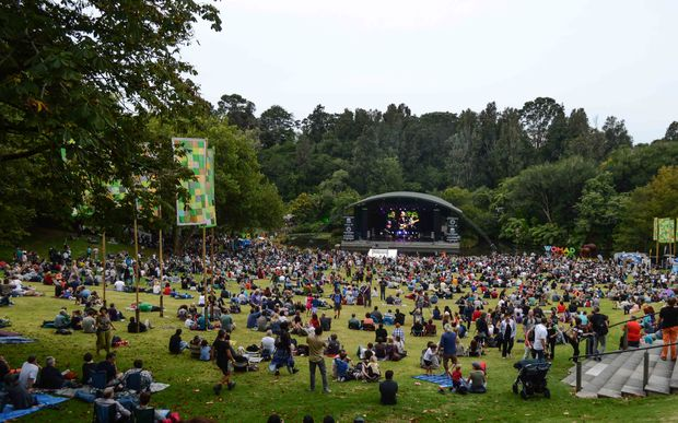 The WOMAD festival in New Plymouth.