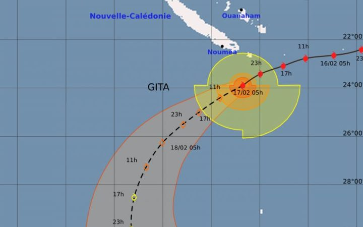 New Caledonia's Isle of Pines remains on maximum alert as Gita passes