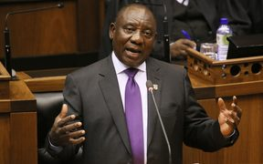 South Africa's new president, Cyril Ramaphosa, delivers his state of the nation address.