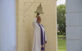 A week after Cyclone Gita, bells echo at church services around the country