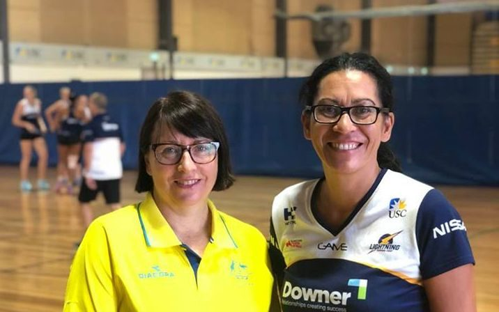 Australian Diamonds coach Lisa Alexander and Sunshine Coast Lightning Coach Noeline Taurua