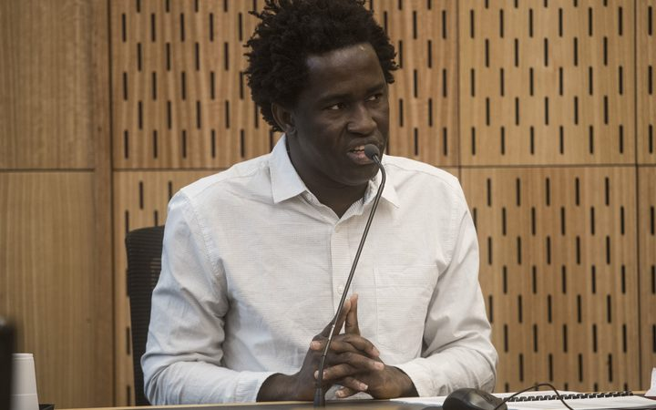 Sainey Marong gave evidence in the Christchurch High Court today in his trial for murder of 22-year-old sex worker Renee Duckmanton.