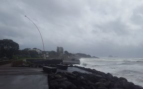 The wind wand in New Plymouth, as the storm hits.