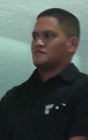 Teina Pora at the High Court on Tuesday.