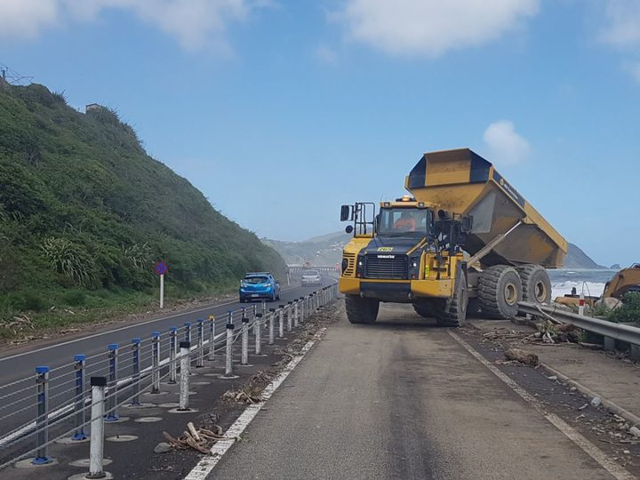 Repairs on State Highway 1 between Pukerua Bay and Paekakariki on the Kapiti Coast.