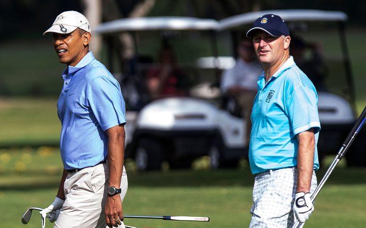 US President Barack Obama and New Zealand Prime Minister John Key. Photo / AFP