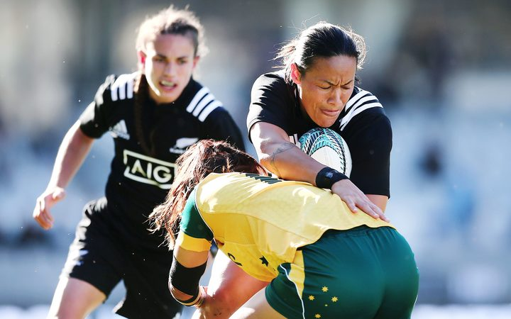 Shontelle Stowers (seen here playing for Australia in rugby) will represent Samoa in rugby league.