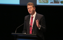 Labour Leader David Cunliffe speaking at the Forest and Wood conference.