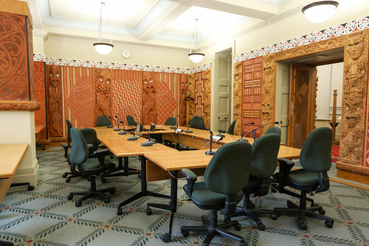 The Maori Affairs Select Committee Room at Parliament. 23 Feb 2018