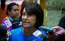 Hekia Parata at Parliament.