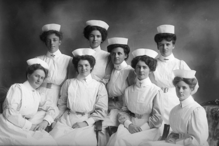 Gallagher group of nurses 1910.