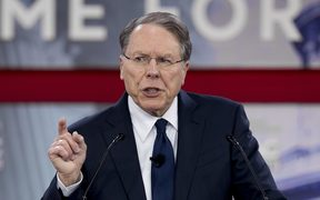 The National Rifle Association's (NRA) head Wayne LaPierre speaks during the 2018 Conservative Political Action Conference.