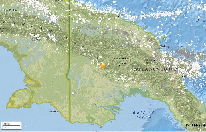 Massive quake  hits Papua New Guinea
