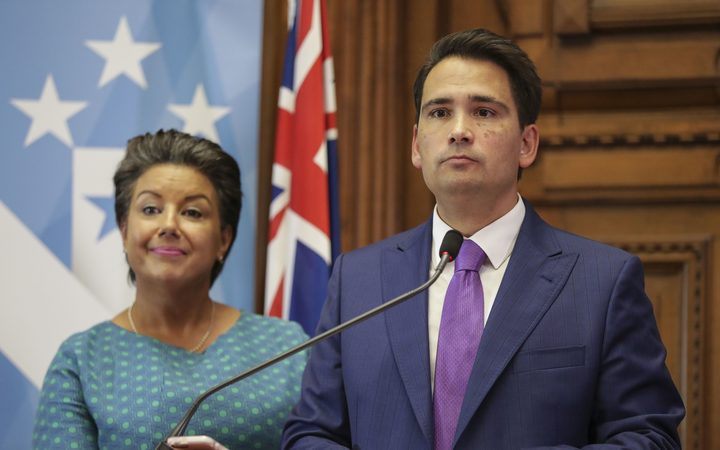 New National Party leader, Simon Bridges and Deputy Paula Bennett