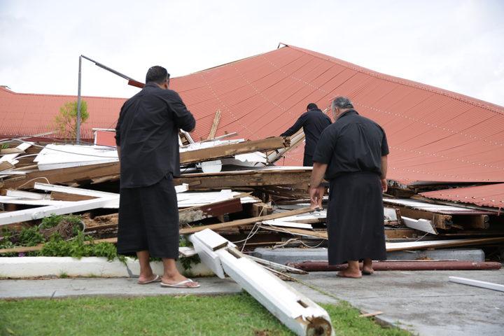 Old Tongan Parliament has collopased after cyclone Gita.