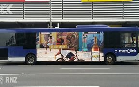 Alcohol advertising on city buses: RNZ Checkpoint