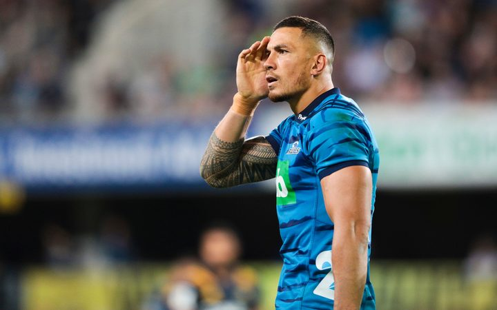 Sonny Bill Williams playing for the Blues.