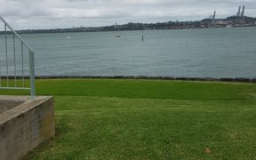 The harbour next to the Devonport Naval Base.