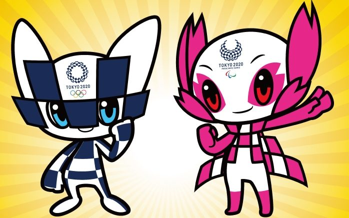 Tokyo 2020 Olympic mascots whose names are yet to be decided.