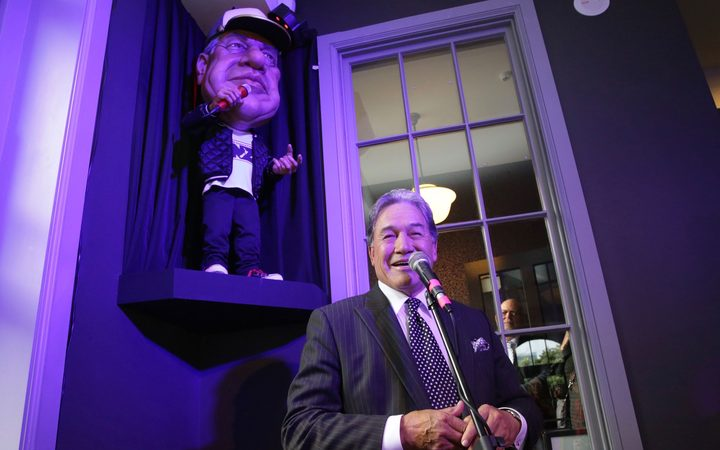 Winston Peters seemed honoured his eighth iteration as a Backbenchers puppet had made the cut.Photo/ Craig McCulloch