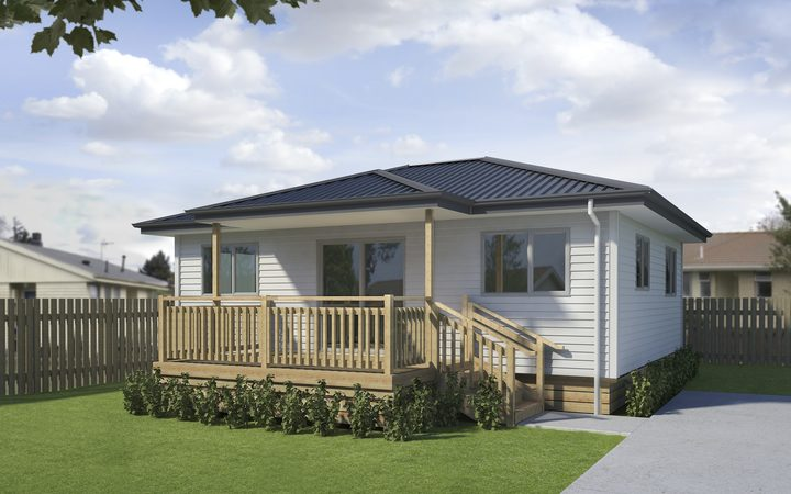 An image of what the new state homes in Napier will look like.