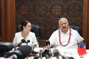 NZ PM Jacinda Ardern meets Samoa PM Tuilaepa Sailele Malielegaoi in her first Pacific Missions trip