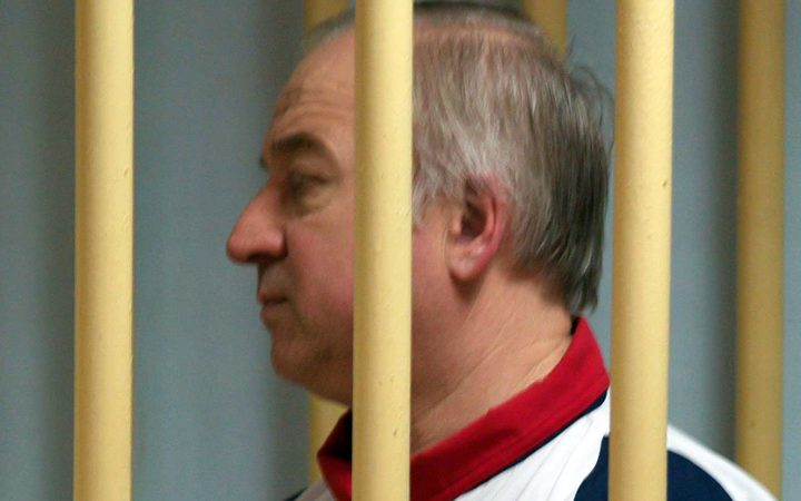 Former Russian military intelligence colonel Sergei Skripal at a hearing at the Moscow District Military Court in 2006.