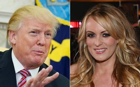 US President Donald Trump and adult film actress and director Stormy Daniels.