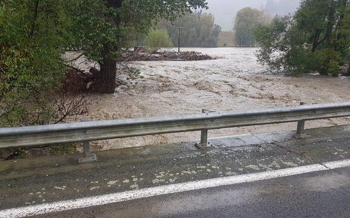 Flooding next to SH5.