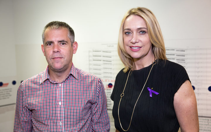 Stuff's chief editor Mark Stevens and Alison Mau. Photo/ Claire Eastham-Farrelly