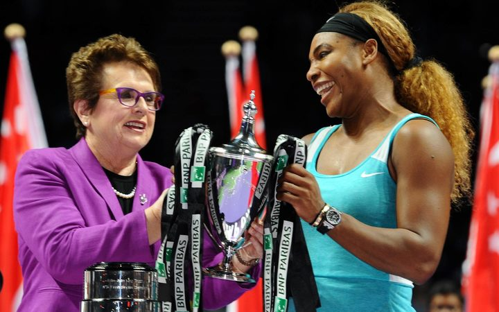 Billie Jean King (left) and Serena Williams.