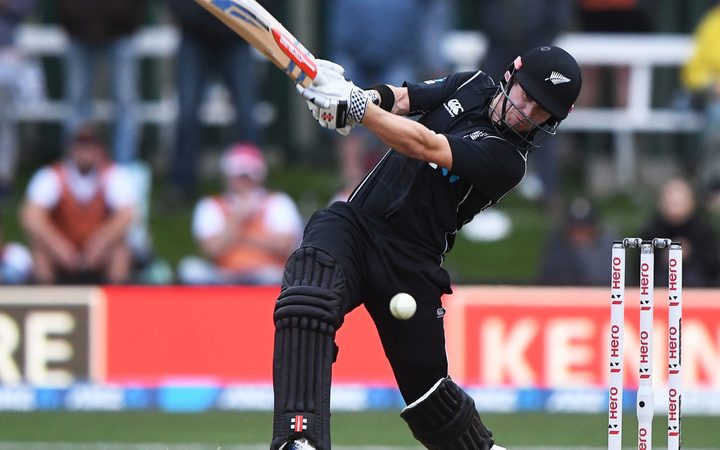 Henry Nicholls in action for the Black Caps.